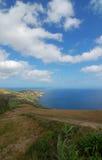 在亚速尔群岛的海岸的看法 免版税库存照片