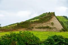 在亚速尔群岛的美好的自然视图 免版税库存照片