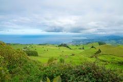 在亚速尔群岛的美好的自然视图 库存图片