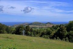 在亚速尔群岛葡萄牙的美丽的Isla圣地米格尔 免版税图库摄影