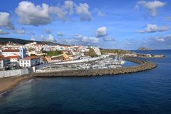 在亚速尔群岛葡萄牙的美丽的Isla Terceira 库存照片