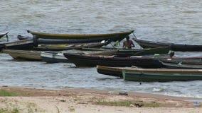 在亚马孙河的小船 股票视频