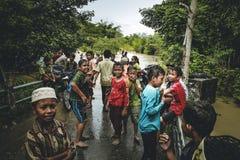 洪水在亚齐印度尼西亚 免版税库存照片
