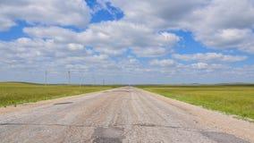 在亚洲干草原的路 库存图片