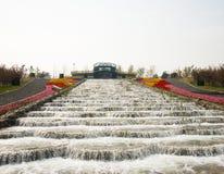 在亚洲,北京,中国,商展庭院,建筑学,环境美化 免版税库存图片