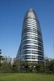 在亚洲,北京,中国,现代建筑学,望京苏荷区 库存图片