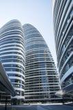 在亚洲,北京,中国,现代建筑学,望京苏荷区 库存照片