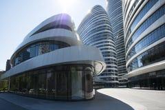 在亚洲,北京,中国,现代建筑学,望京苏荷区 免版税图库摄影