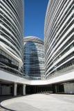 在亚洲,北京,中国,现代建筑学,望京苏荷区 免版税库存图片