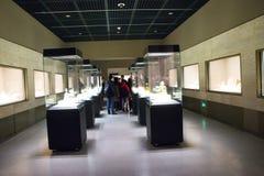 在亚洲,北京,中国,现代建筑学,资本博物馆,室内展览室 免版税库存图片