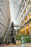 在亚洲,北京,中国,现代建筑学,资本博物馆,室内展览室 免版税图库摄影