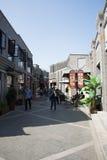 在亚洲,北京,中国,邢粤惠山,商业街 免版税图库摄影