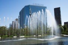在亚洲,北京,中国, Raycom望京中心,现代建筑学 免版税库存照片
