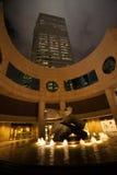 在交易广场的雕塑在香港 库存照片