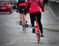 在交通的自行车 库存照片