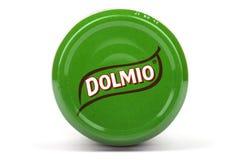 在产品的Dolmio商标 图库摄影