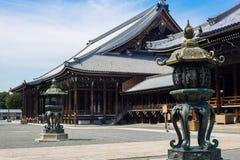在京都日本的Nishihogan籍寺庙 图库摄影