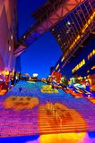 在京都驻地的万圣夜照明 免版税库存图片