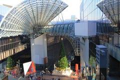 在京都驻地的圣诞树在京都 免版税库存图片