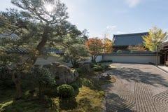 在京都Eikan Zenrin籍寺庙 图库摄影