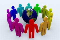 在人世界范围内 免版税库存照片