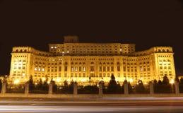 在人前面议院的红绿灯  免版税库存图片