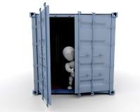 在人员里面的容器运费 向量例证