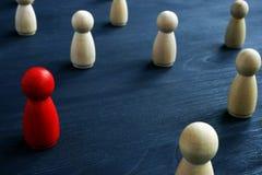在人群的领导先锋 市场细分化 免版税库存图片