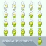 在人设置的进展显示百分比 免版税库存照片