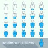 在人设置的进展显示百分比 免版税库存图片