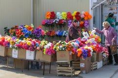 在人造花的贸易 免版税库存图片
