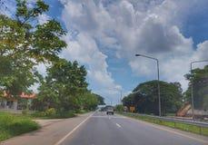 在从Nongkhai的路上到Khonkaen,泰国 免版税库存图片
