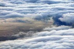 在从Pico火山看见的大西洋的五颜六色的日出 免版税图库摄影