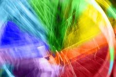 在代表速度和行动的蓝色,绿色,黄色和橙色口气的美好的抽象背景 免版税库存图片