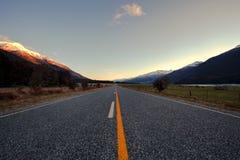 在令人想往的国家公园南方ne的美丽的沥青高速公路 库存图片