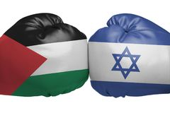 在以色列和巴勒斯坦国之间的交锋 免版税库存图片