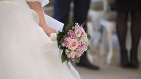 在仪式的婚礼夫妇 股票视频