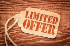 在价牌的有限的提议标志 免版税库存照片