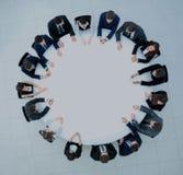 在企业大会和介绍的圆桌会议讨论 免版税库存照片