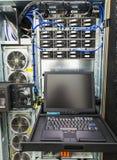 在企业服务器的管理控制台 库存图片