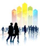 在企业电子表格世界范围内 免版税图库摄影