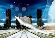 在企业电子表格世界范围内 图库摄影