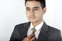 在企业衣裳的印地安男性模型 库存照片