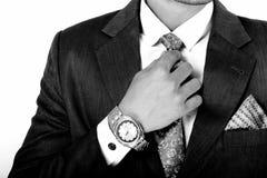 在企业衣裳的印地安男性模型 库存图片