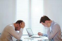 在企业队的危机 免版税库存照片