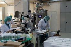 在企业维塔中包装完成品 免版税库存照片
