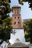 在伊兹密尔karatas处所的历史电梯大厦 免版税库存照片