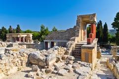 在伊拉克利翁,克利特海岛附近的Knossos宫殿  图库摄影