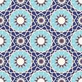 在伊斯兰教的样式的抽象无缝的样式 也corel凹道例证向量 库存图片