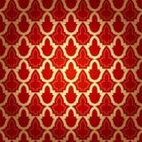 在伊斯兰教的样式的无缝的几何样式。 免版税库存照片